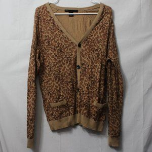 Marc by Marc Jacobs Leopard Print Cardigan Size M